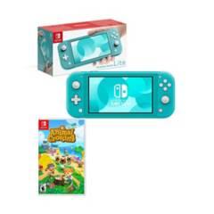 NINTENDO - Nintendo switch lite turquesa + Animal Crossing