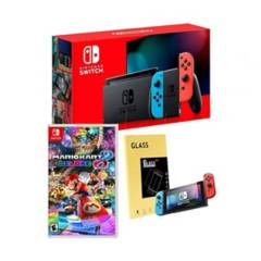 NINTENDO - NintendoSwitch+Mario kart8deluxe+mica de vidrio