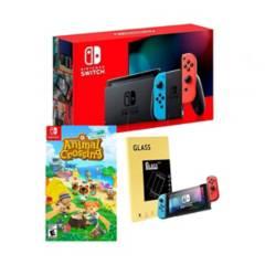 NINTENDO - Nintendo Switch+Animal crossing+mica de vidrio