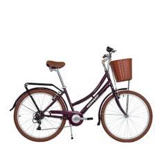 """Monark - Bicicleta Monark Turquesa City 6V Aro 26"""" Morado"""