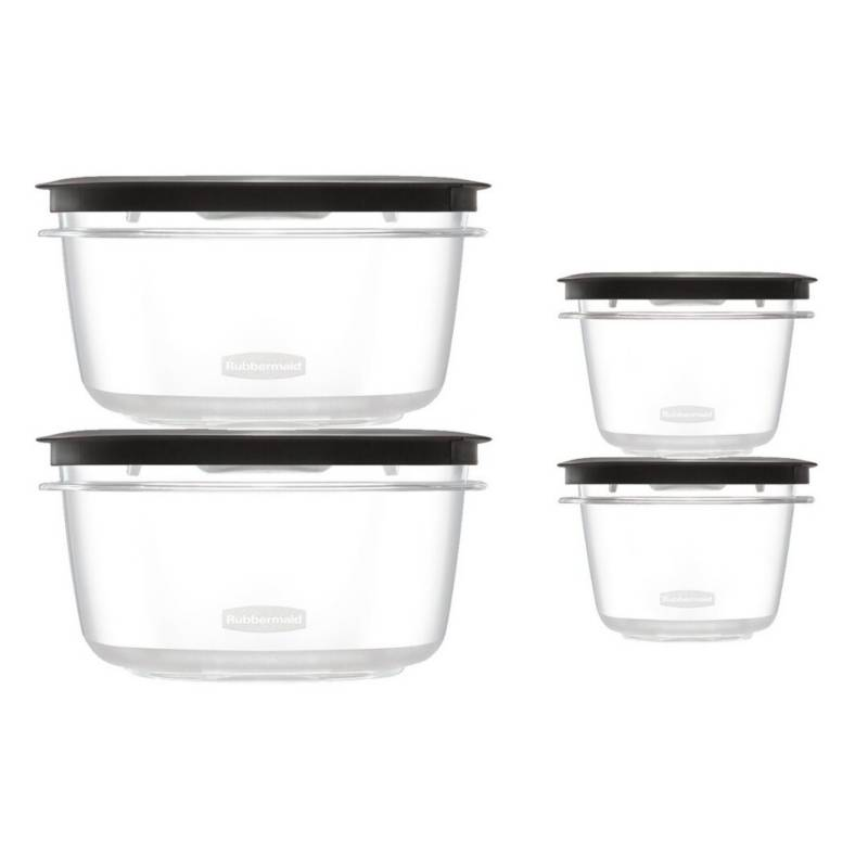 RUBBERMAID - Set x 4 Tapers Herméticos