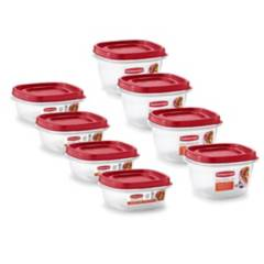 RUBBERMAID - Set x 8 Tapers Herméticos