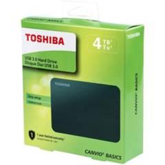 TOSHIBA - Disco Duro Externo 4TB teras Canvio