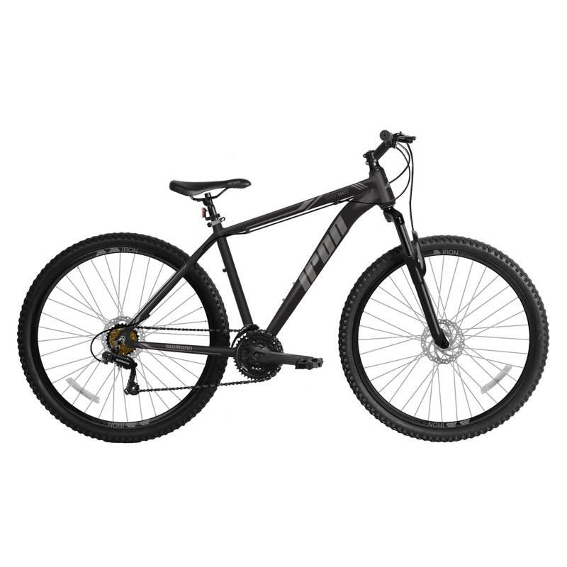 IRON - Bicicleta Montañera Iron Black Matt Aro 29