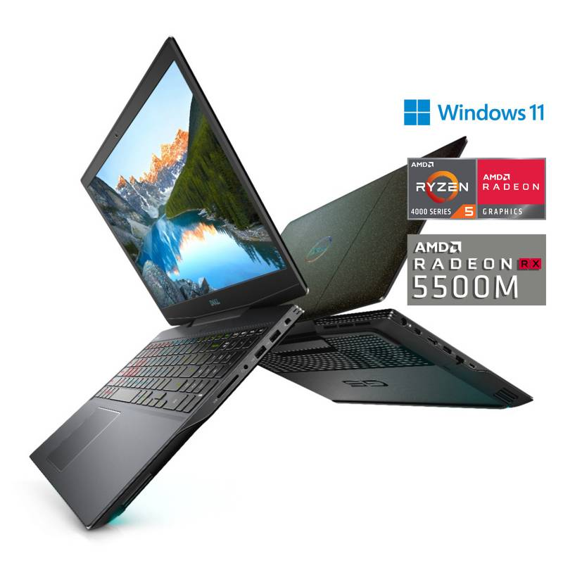 "DELL - Laptop Gamer Dell G515.6"" Ryzen 5 8GB RAM 512GB SSD + 6GB Video Radeon RX 5600M"
