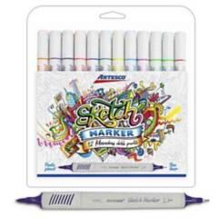 ARTESCO - Plumón Sketch Marker x 12