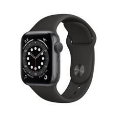 APPLE - Apple Watch Series 6 (GPS) - Caja de aluminio Gris espacial 40 mm - Correa deportiva negra