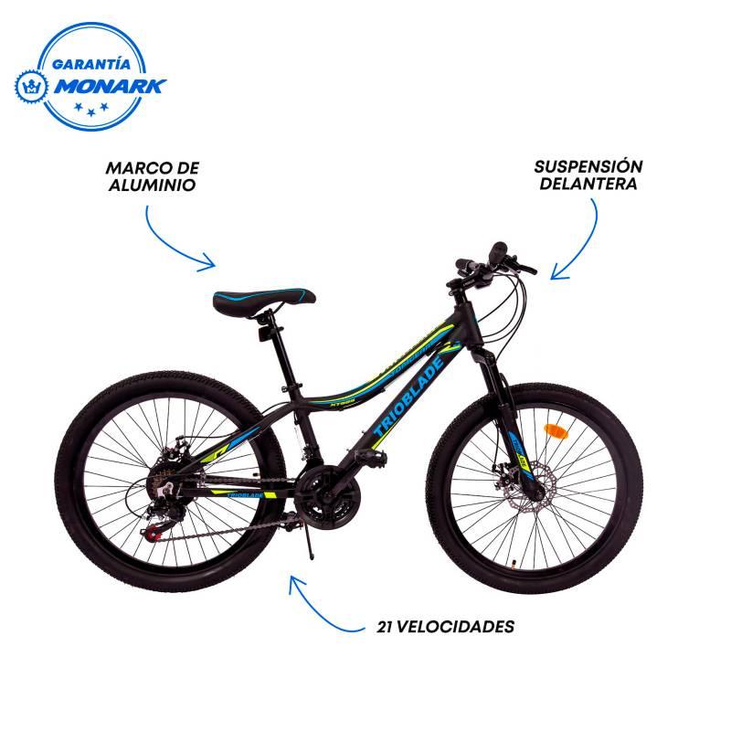 """MONARETTE - Bicicleta Montañera Trioblade Aro 24"""" Hombre"""