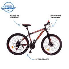 """MONARETTE - Bicicleta Monarette Trioblade Aro 27.5"""" Negro Rojo"""