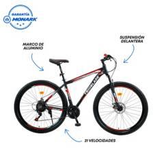 """MONARETTE - Bicicleta Monarette Trioblade Aro 29"""" Negro Rojo"""