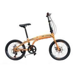 BOXBIKE - Bicicleta Plegable Aro20 Frenos de Disco Unisex