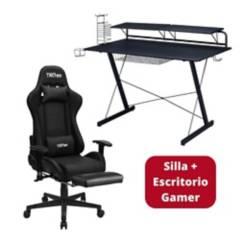 TECHNISPORT - Silla Gamer 180° SGNE y Escritorio Gamer