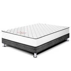 PARAÍSO - Cama Box Tarima Per 1.5 Plz + 1 Almohada + Protector
