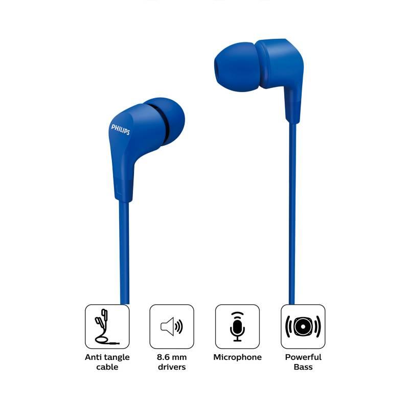 PHILIPS - Audifonos In Ear con Micrófono  TAE1105BL AZUL