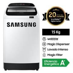 SAMSUNG - Lavadora Eco Inverter 15 kg Blanca