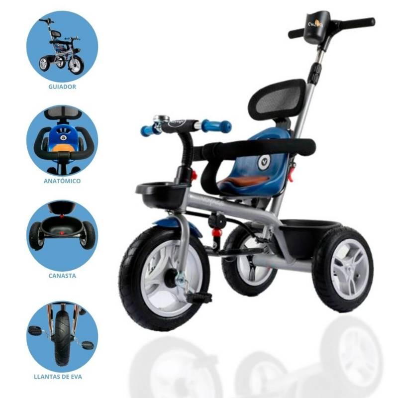 VOYAGE - Triciclo Guiador  Voyage Blue