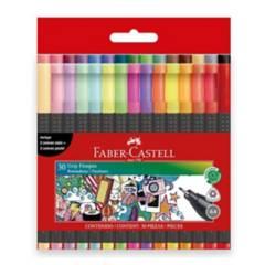 FABER CASTELL - Marcadores Grip Fine Pen x 30