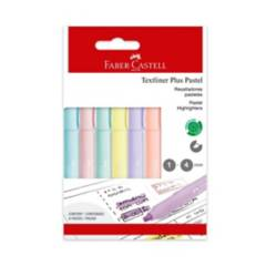 FABER CASTELL - Resaltador x 6 Pastel Textliner Plus