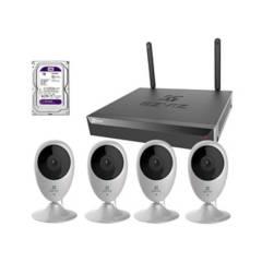 EZVIZ - Kit 4 Camaras Seguridad Inalambrico Audio Wifi Full Hd + Disco Duro 1Tb