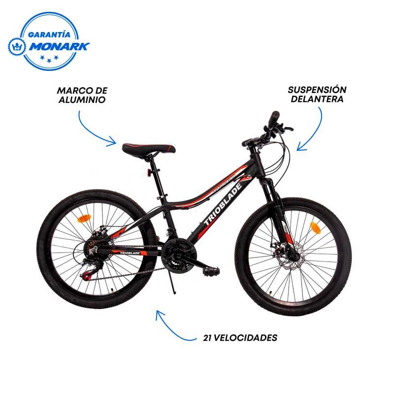 MONARETTE - Bicicleta Trioblade Aro 24' Negro