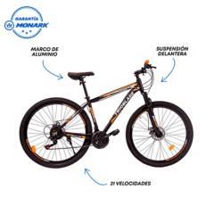 "MONARETTE - Bicicleta Trioblade Aro 29"" Negro Naranja"