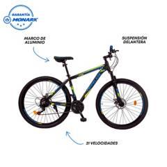 """MONARETTE - Bicicleta Trioblade Aro 29"""" Negro Azul"""