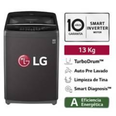 LG - Lavadora LG Carga Superior Smart Inverter con TurboDrum WT13BSB 13 Kg Negra