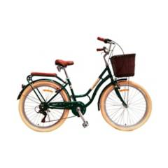 JEFF BIKE - Bicicleta Netherland Aro 26 - Verde Oscuro