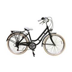 JEFF BIKE - Bicicleta Cityzen Venecia Aro 26 - Negro Matt