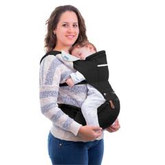 MONCHITOS - Baby Hip Carrier Negro Canguro con Asiento