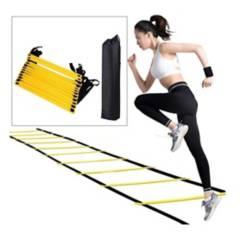 TOTAL FITNESS - Escalera de Agilidad 12 Pasos + Bolso Fitnes