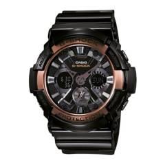 CASIO - Reloj G-SHOCK GA-200RG-1A Resina/Acero Hombre Negro