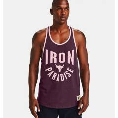 UNDER ARMOUR - Polo Project Rock Iron Prdise TNK Training Hombre