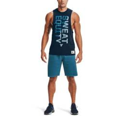 UNDER ARMOUR - Polo Project Rock Sweat Equity TNK Training Hombre