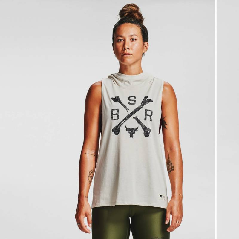 UNDER ARMOUR - Polerón Project Rock Hooded Tank Training Mujer