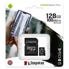 KINGSTON - Memoria 128GB Micro SDXC Clase 10 SDCS2/128GB