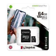 KINGSTON - Micro SD 64GB + Adaptador SD