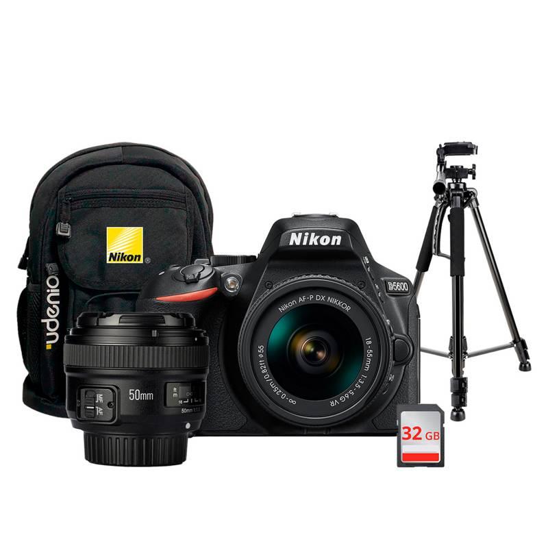 NIKON - Nikon D5600 18-55 YN50, tripode y mochila