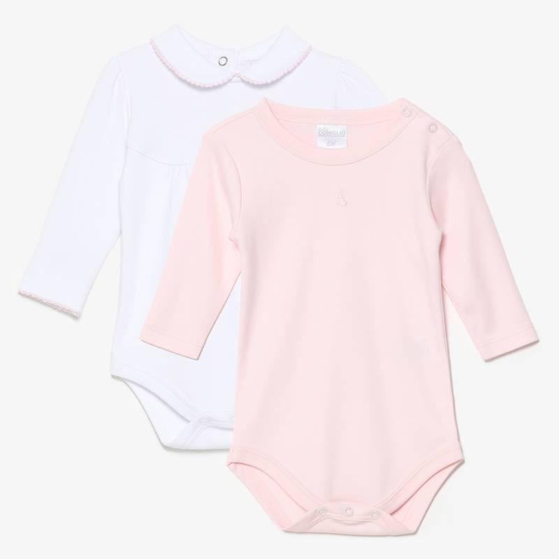 CONIGLIO - Body Pack X2 Algodón Pima Bebé Niña