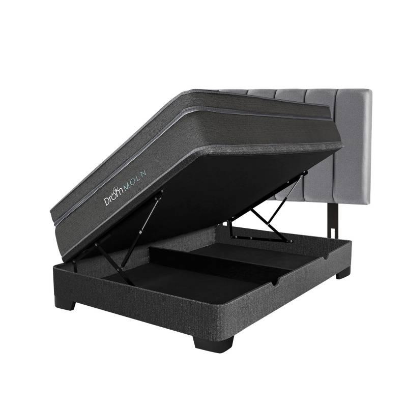 DRÖM - Dormitorio Boxet Moln 2 Plz + 2 Almohadas Viscoelásticas + Protector