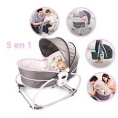 BABY WORLD - Silla Mecedora Moisés 5 en 1 Vibrador y Toys