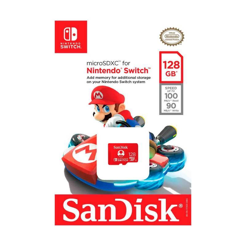 NINTENDO - Memoria Micro SDXC de128 GB 100 MB x 90 Switch