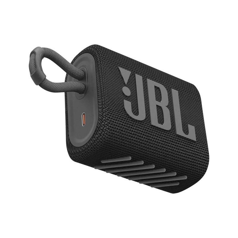 JBL - JBL PARLANTE BLUETOOTH GO 3 RESISTENTE AL AGUA BLACK