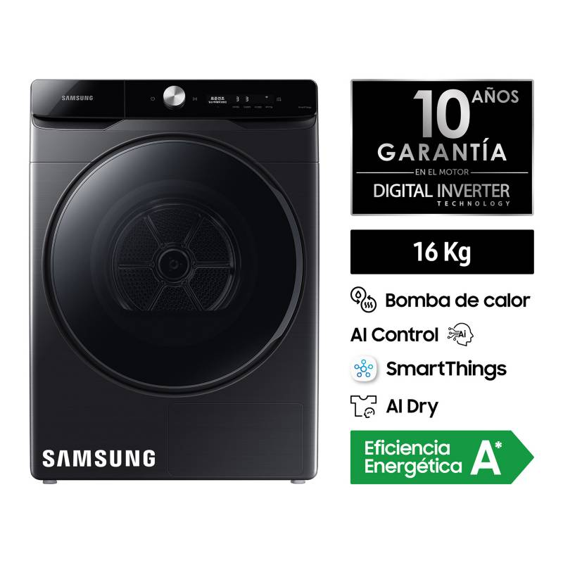 SAMSUNG - Secadora Samsung AI Control 16kg DV16T8740BV/PE