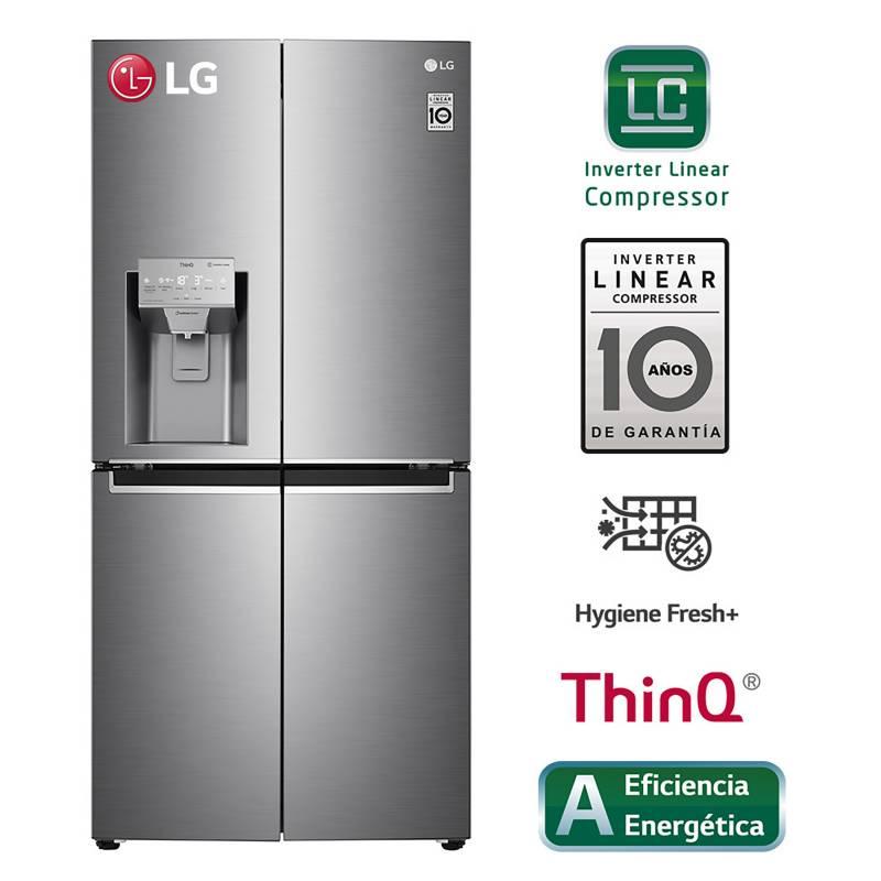 LG - Refrigeradora LG French Door con Linear Cooling 427 LT LM57SPN Plateada