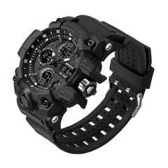 SANDA - Reloj Deportivo Hombre 6021 Estilo Militar