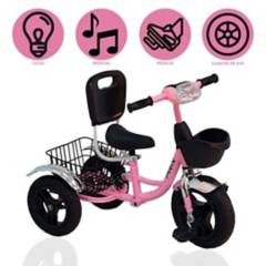 """BABY GO - Triciclo Chavo  """"CANASTO"""" PINK"""