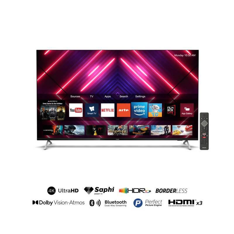"PHILIPS - Televisor 58"" Borderless 4K Ultra HD Smart TV 58PUD7625"