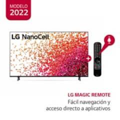 "LG - Televisor 55"" LG NanoCell 4K Ultra HD ThinQ AI 55NANO75SPA (2021)"