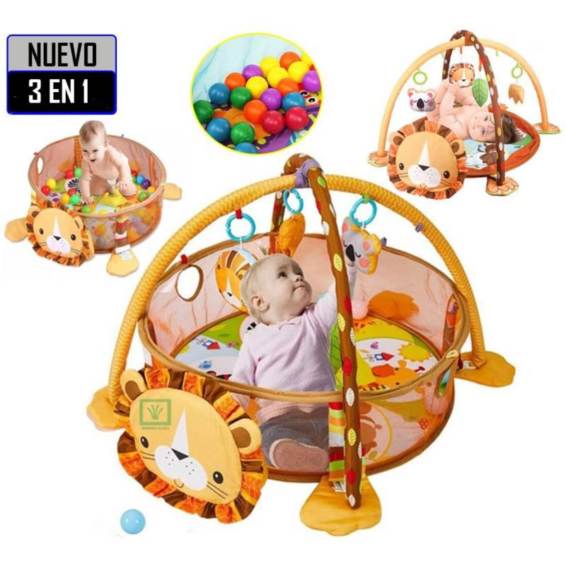 IDEAL - Gimnasio de Bebe Didáctico 3 en 1 con Pelotas